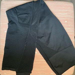 Fabletics black mesh bottom high waisted leggings